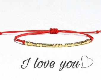 I love you morse code bracelet I love you bracelet-I love u bracelet -i love you bracelet Love bracelet Valentine's day gift for Lovers
