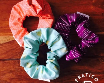 Ready to ship/Trio scrunchies / hair ties, gift for woman/hair/gift for women/made in Quebec