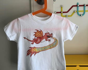 Kids Dragon T-Shirt!   Adorable kids clothing sizes Toddler - Youth
