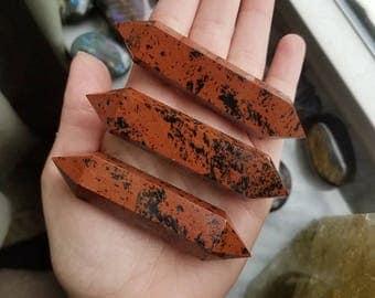 Red Mahogany Obsidian Double Terminated Wand (1 piece)