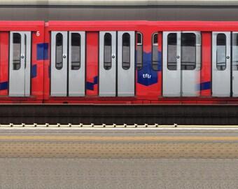 Deptford Station Platform 1 10082014   Original Panoramic Photography - Limited Edition