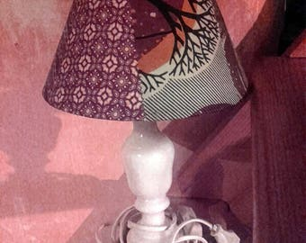 Lamp shade with little wax Akwaba creations vintage patchwork
