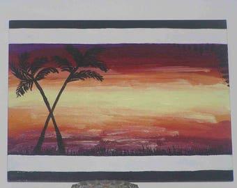 "Acrylic painting ""Sunny light"" on canvas Board"