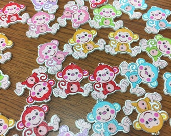 Monkey two hole Craft Buttons, Crocheting, Knitting.