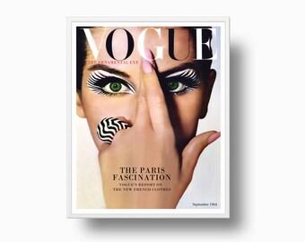 1964 Vogue Print, Fashion Print, Vogue Cover Print, vogue Paris Fashion, Vogue Poster, Paris Fashion Print, Instant Download Print