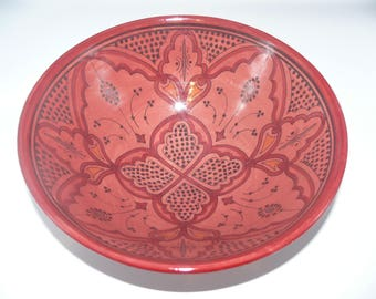 Moroccan Oriental ceramic dish bowl Fruit salad Cereal Ø 30 CM model Farah