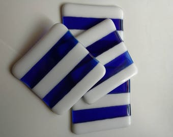 Coasters. Hand made. Fused glass coasters. Decorative tiles.