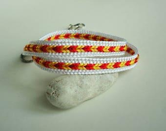 Braided bracelet Bright bracelet Colorful bracelet Kumihimo bracelet Boho bracelet Hippie bracelet Bracelet for her Gift for her