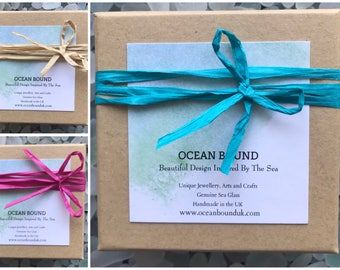 Add On Gift Box Service. All Natural Gift Boxes with Display Card and filled with shredding, with or without bow tie wrap. Handmade in the U