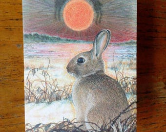 Greetings card - Prince of Rabbits