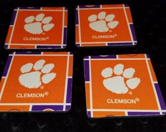 Clemson Tigers 4 Piece Coaster Set