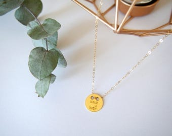 "Necklace ""Make a wish"" or goldfilled"