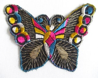 Butterfly applique 1930s vintage embroidery Sewing supply Crazy quilt. #6A8G43KB