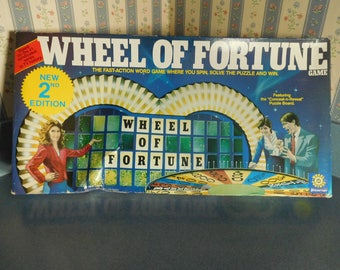 Vintage 1985 Wheel  of Fortune Game by Pressman