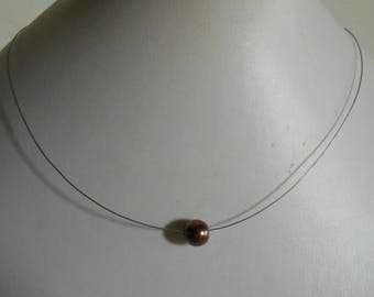 Wedding Brown solitaire Pearl Necklace