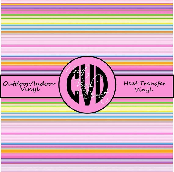 Pastel Striped // Serape Patterned Vinyl // Patterned / Printed Vinyl // Outdoor and Heat Transfer Vinyl // Pattern 295