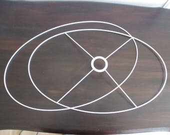 "GAME circle oval for Lampshade 50 X 32 cm (19.7 ""X 12.6"")"