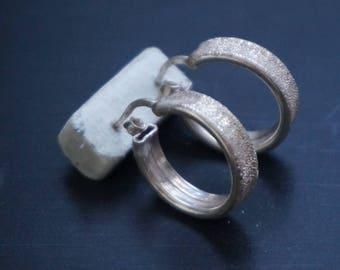 Beautiful Silver Earings, 925, Italy