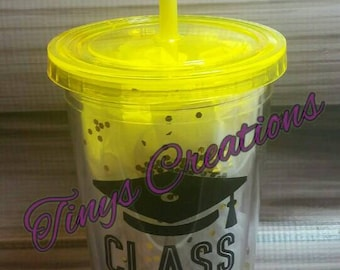 Class of 2018 Cup Graduation Senior High School College Personalization Customized Graduate