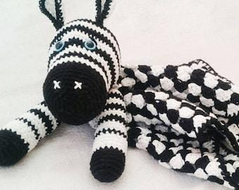 Crochet Zebra Baby Blanket