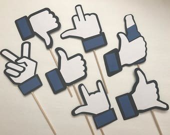 7-pack Facebook Likes Photo Booth Props | Facebook Photo Props
