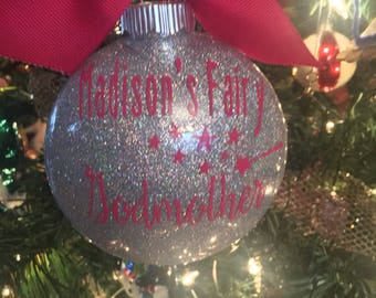 Godmother ornament, fairy godmother ornament, godmother gift, christmas gift, fairy godmother.