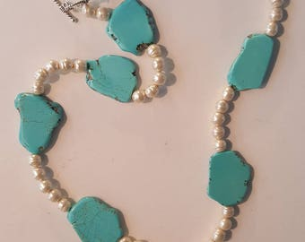 Turquoise and Pearls!