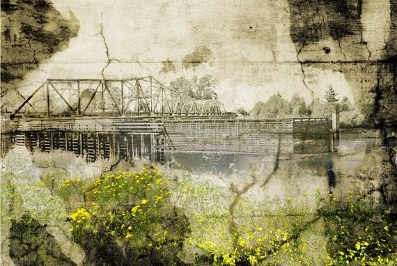 Pastorale No.7, The Bridge with Golden Flowers, limited edition fine art print