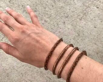 Vintage Set of Copper Cuffs