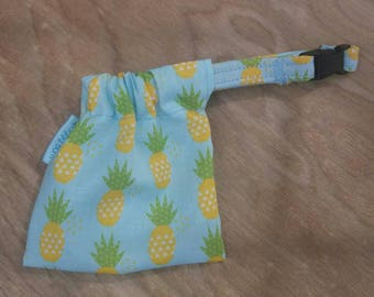 Dog Treat Bag - Dog Treat - Treat Pouch - Dog Collar - Personalized Dog Collar - Dog Leash - Dog Bow  - Leash Bag - Leash Pouch - Pineapple