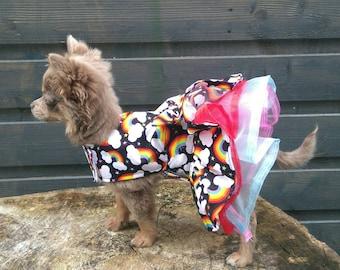 Dog Harness - Chihuahua Clothes - Chihuahua Dress - Dog Dress - Small Dog Clothes - Harness Coat - Chihuahua - Dog Outfit - Rainbow Dog