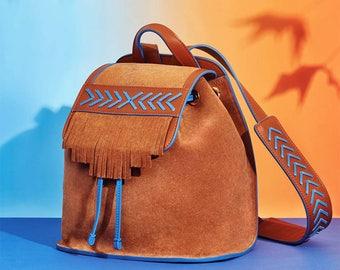 Zai-Mu Backpack In Reverse Calfskin