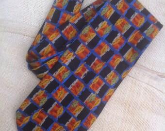 beautiful new tie, follies, silk blue