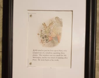 Peter Jumps Out the Window - The Tale of Peter Rabbit - Beatrix Potter - Aproximaitely 5 1/2 x 7 1/2 inches