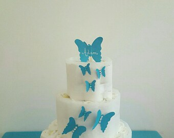 "Beautiful ""flight of butterflies"" layer cake"