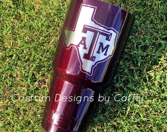 Texas A&M Powder Coated Stainless Steel Tumbler YETI RTIC OZARK
