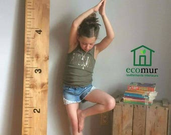 Wooden growth chart curved rules growth ruler decor nursery children