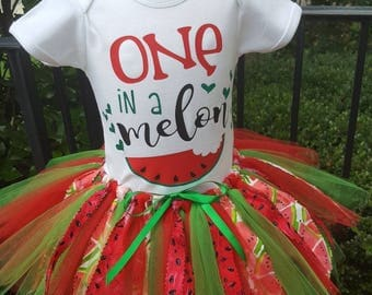 One In A Melon Birthday outfit