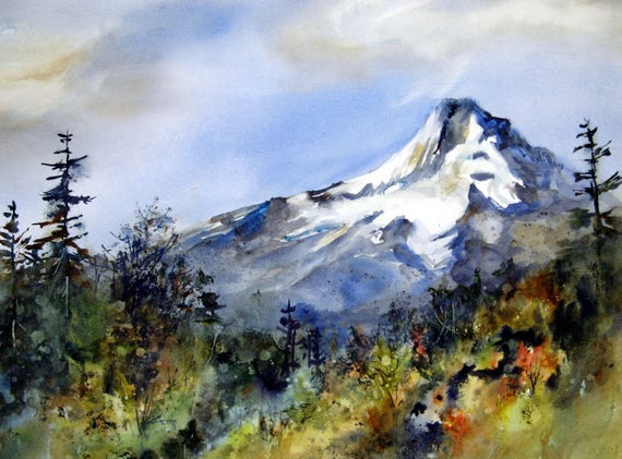 Mt. Hood 211 - signed print of Mt. Hood done by Bonnie White, Columbia Gorge artist