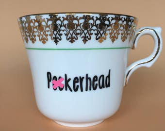 P*ckerhead | Ready To Buy Swear Teacup | Funny Rude Insult Obscenity Profanity | Unique Gift Idea