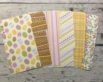 PERSONAL Sized Spring Fling Dashboard and Dividers | Filofax, Gilio, Franklin Covey, Kikki K, Day Planner, Etc