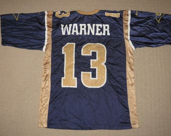 205b32f7c ... NFL Football Vintage St. Louis Rams Kurt Warner 13 Jersey Adult Medium  Nike ...