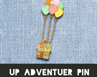 UP ADVENTURE PIN | adventure is out there grape soda brooch badge carl ellie house chain balloon married life gold enamel hard pin jacket