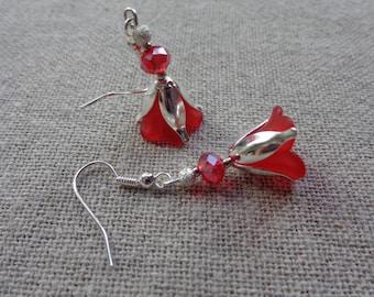 Red medium flower silver