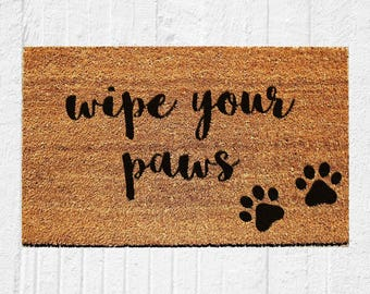 Wipe Your Paws Doormat | Welcome Mat | Door Mat | Outdoor Rug | Coir Mat