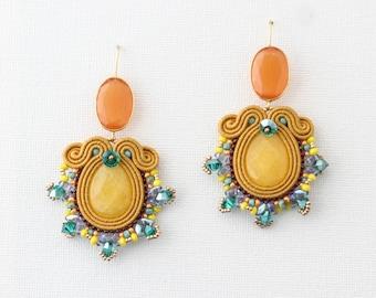 Soutache earrings Summer in Salento