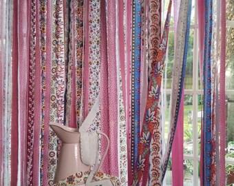 34x 28 Bohemian Rag Curtain Hippie Junk Gypsy
