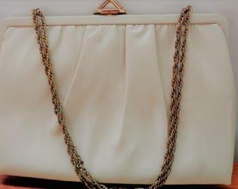 Mardane Purse, Biege, Ivory Purse, Ladies Handbag, Vintage Handbag,