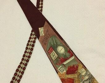 Vintage 100% Silk Tabasco Seafood Market Necktie