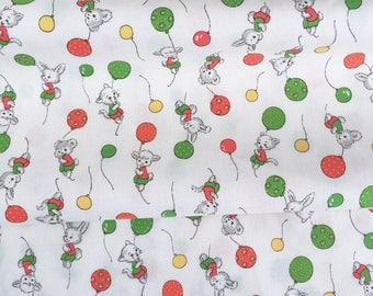 Vintage animal fabric (white)